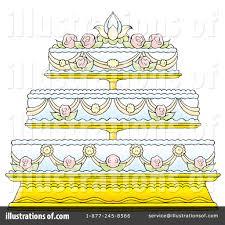 Royalty Free RF Wedding Cake Clipart Illustration by Alex Bannykh Stock Sample