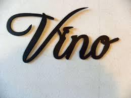 Custom Made Vino Word Home Kitchen Decor Metal Wall Art