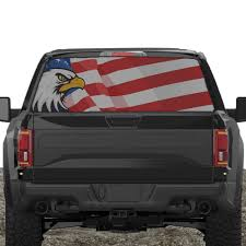 100 Rear Truck Window Decals Amazoncom XPLORE OFFROAD American Flag For