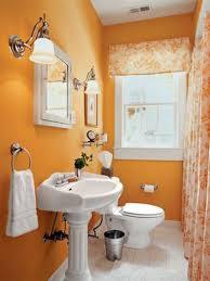 orange small bathroom colors ewdinteriors