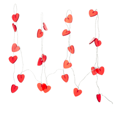 IKEA Ramsta 24 Red Heart Shaped String Lights Check Back