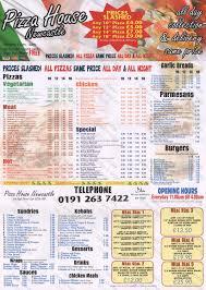 Pizza House Wallsend Menu