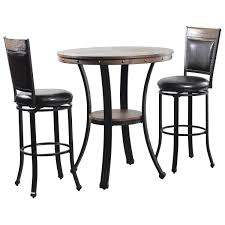 Parkerville Furniture Line Franklin 3-Piece Pub Table Set In Dark ...