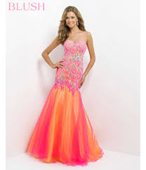 blush 2014 prom dresses pink u0026 yellow strapless embroidered