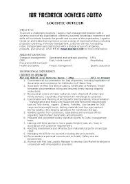 Logistics Resume Sample Supply Chain Management Cover Letter Transport And Transportation Planner
