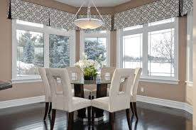 Using A Valance Is An Excellent Way To Draw The Eye Upward Valances In This Dining Nook Help Space Feel Large And Open They Allow Contemporary