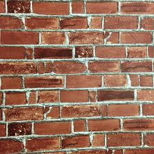 wood brick tiles effect self adhesive wallpaper