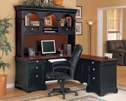 Black Office Desk With Hutch For Best Home Office Design With