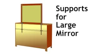 dresser mirror supports for strong adjustable support of your