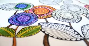 Download These Free Printable Complex Coloring Pages In A Cool Artsy Flower Theme