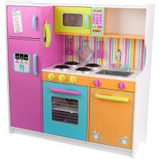 cuisine bois kidkraft grande cuisine en bois aux couleurs vives kidkraft