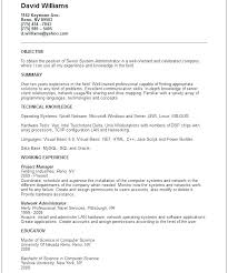 Linux Admin Resume Format For System Administrator Lovely Sample Doc