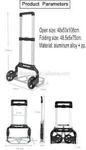 Portable Small Folding Push Hand Truck Trolley,Hand Collapsible ... Hand Trucks Amazoncom Building Supplies Material Handling Milwaukee 3500 Lb Capacity Convertible Truck30152 The Harbor Freight Small Truck Best Resource 50 Luggage Cart With Wheels Travelkart Metal Moving Home Depot Big Mht Shop Mini Multi Handtruck Sydney Trolleys Collapsible Platform Trolley Finether 2in1 Alinum Folding Step Ladderhand Large Cboard Box On Hand Truck In Office Small Boxes Wooden Dolly Nsn 2018 Map And Information Directory Printed Braille Steel Sign For