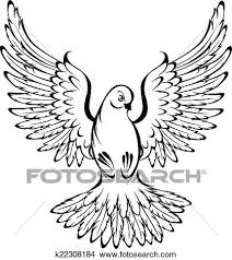 Clipart flying dove Fotosearch Search Clip Art Illustration Murals Drawings and