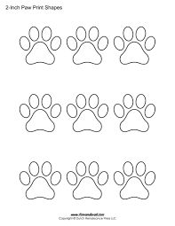 Printable Paw Print Templates For All Your Animal Themed Pet Arts And Crafts Choose From Many Sizes Of Shapes