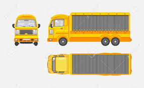 100 Truck Top Stock Vector Illustration Isolated Yellow Delivery