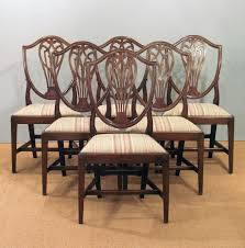 Georgian Dining Room by Set Of Six Antique Dining Chairs Hepplewhite Dining Chairs 6