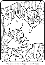 CAT AND DOG SEE THE WORLD COLORING BOOK Page 6 Of
