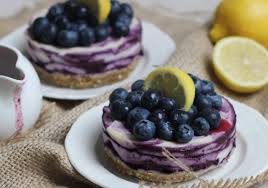 Raw Lemon Blueberry Cheescake