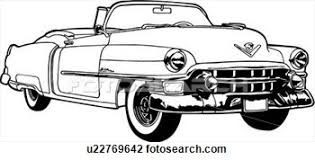 Classic Car Clipart Black And White 6