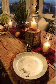 Rustic Christmas Table Decor Decorating Ideas