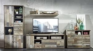wohnwand wohnzimmer set bonanza 5 tlg hochschrank kommode tv lowboard tv wandregal tv tisch couchtisch vintage shabby