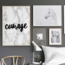 Motivational Quote Poster Courage Home Office Dorm Living Room Decor UNFRAMED