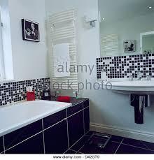 bath black monochromatic tiles stock photos bath black