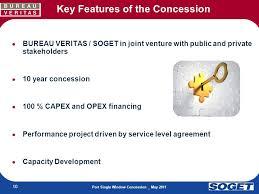bureau veritas benin concession framework to implement and operate a port single window