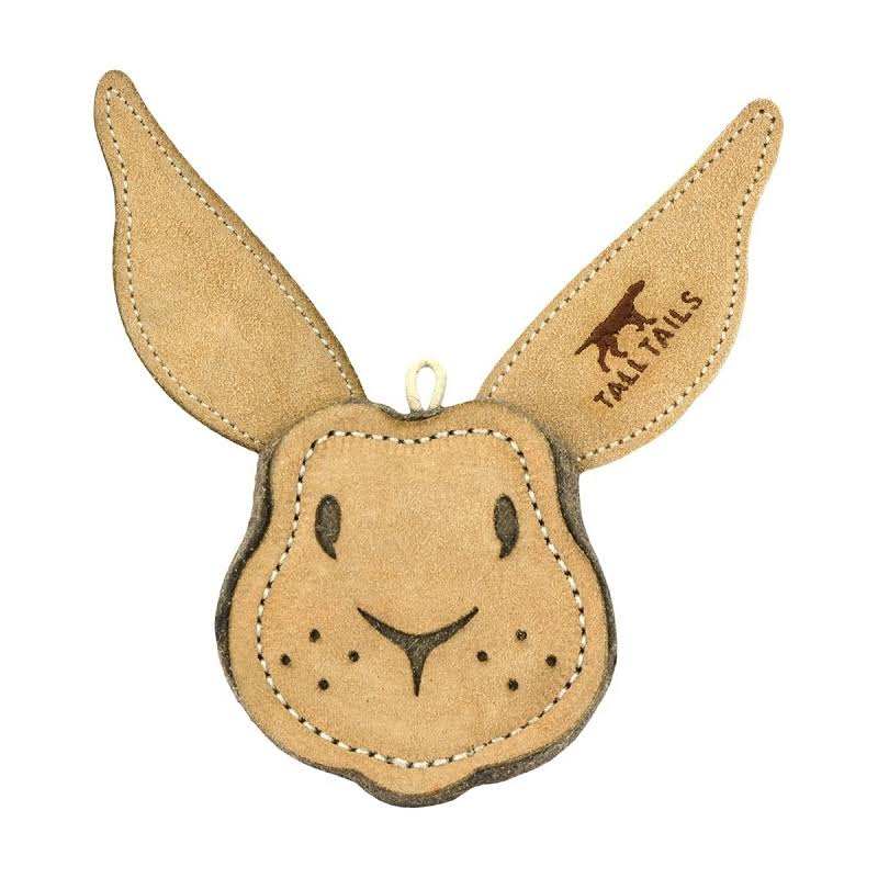 Tall Tails 88216668 Scrappy Critter Leather Rabbit Dog Toy - 4 in.