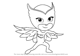 Learn How To Draw Owlette From PJ Masks Pj Coloring Pages