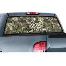 100 Rear Window Graphics For Trucks Film Graphic Realtree Logo And Max1 HD Camo Camouflage