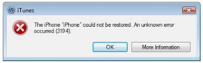How to fix error 3194 in iTunes when you restore or update iPhone