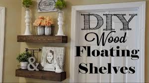 Wood Shelves Diy by Diy Wood Floating Shelves Youtube