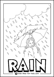 Image Of Rainy Day Colouring Page