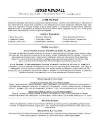 Examples Of Law Enforcement Resume With