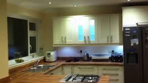 Under Cabinet Strip Lighting Ikea by Kitchen Led Lighting Refit Youtube