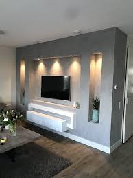 betonlook tv wand wohnzimmer tv wand ideen tv wand ideen