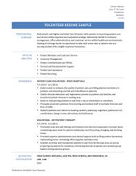 resume with volunteer experience template best photos of