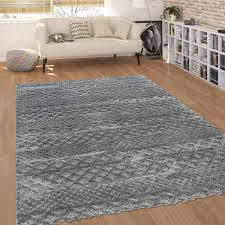 kurzflor wohnzimmer teppich zickzack muster 3 d