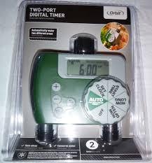 Orbit Hose Faucet Timer Manual by Orbit One Dial 2 Port Digital Hose Faucet Water Timer Lawn