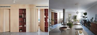100 Storage Unit Houses This Apartment In Tel Aviv Uses A Wooden Storage Unit To Separate