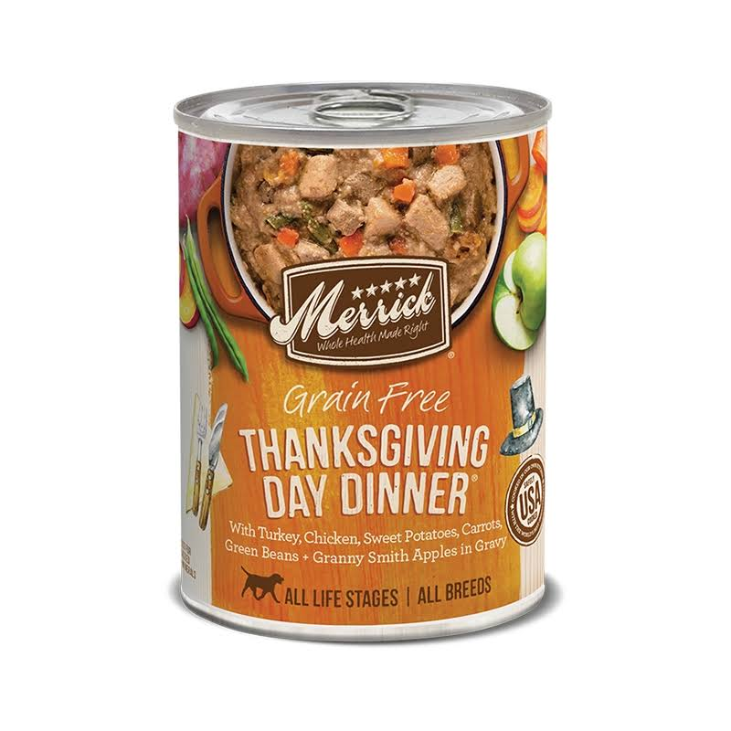 Merrick Thanksgiving Day Dinner Grain Free Canned Dog Food 12.7oz