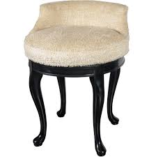 Fluffy Vanity Chair With Low Back And Black Legs