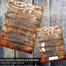 Rustic Fall Wedding Invitations With Design Ideas 16