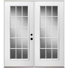 Shop ReliaBilt 71 375 in 15 Lite Glass Unfinished Steel French