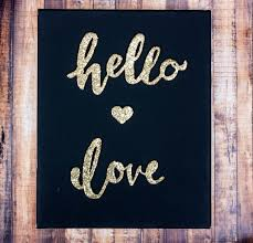 VIEW IN GALLERY Glitter Words Canvas Art