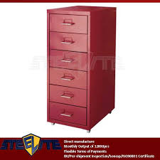 Six Drawer Storage Cabinet by Used Salon Office Furniture Red Color Helmer Metal Narrow Six
