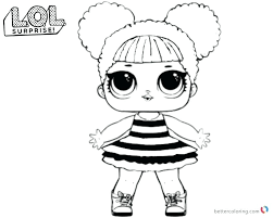Lol Dolls Coloring Pages Surprise Queen Bee Free Printable