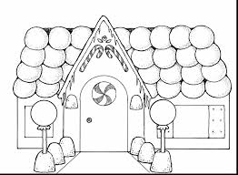 Download Coloring Pages Gingerbread House Great Christmas Printables Men Page With